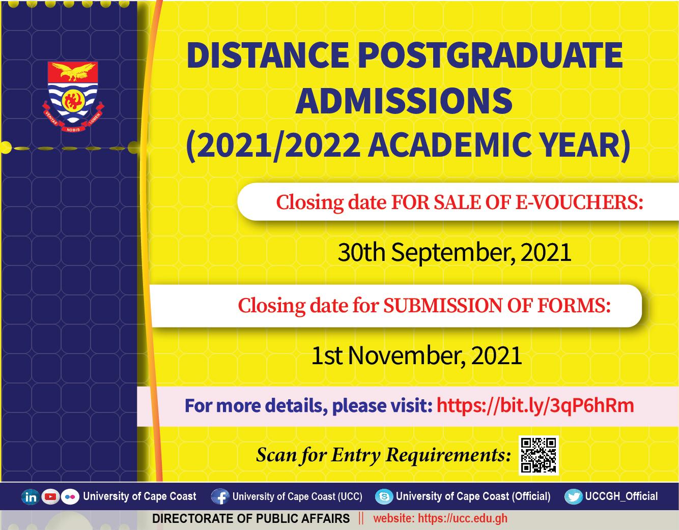 CoDE Postgraduate Admissions