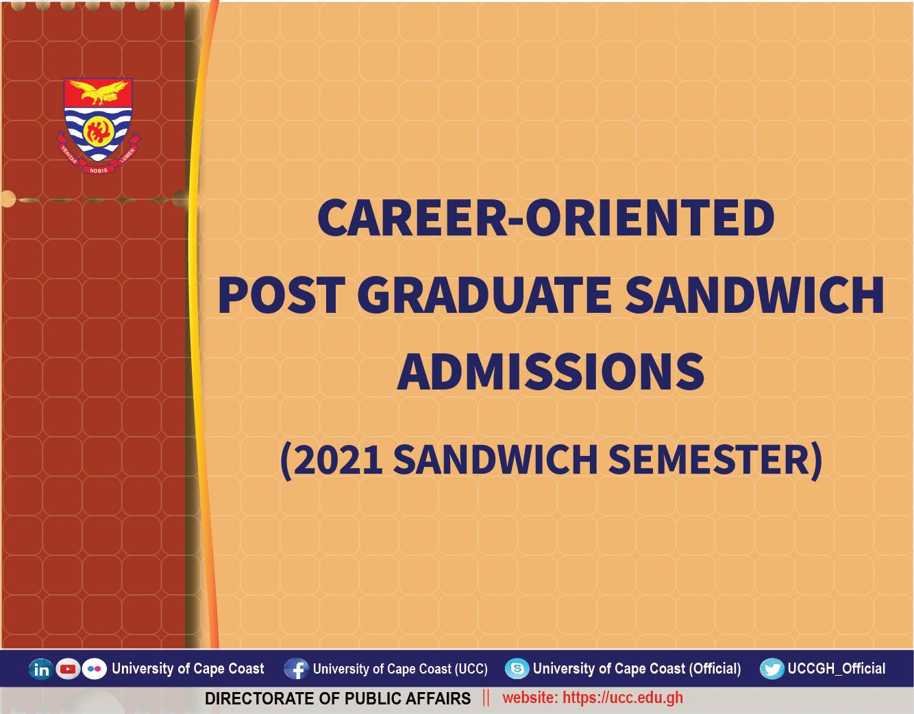 Post Graduate Sandwich 2021