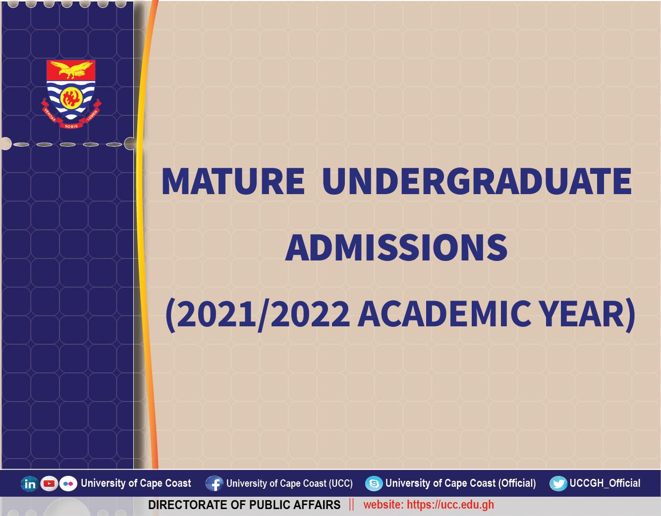 Mature Advert 2021/2022