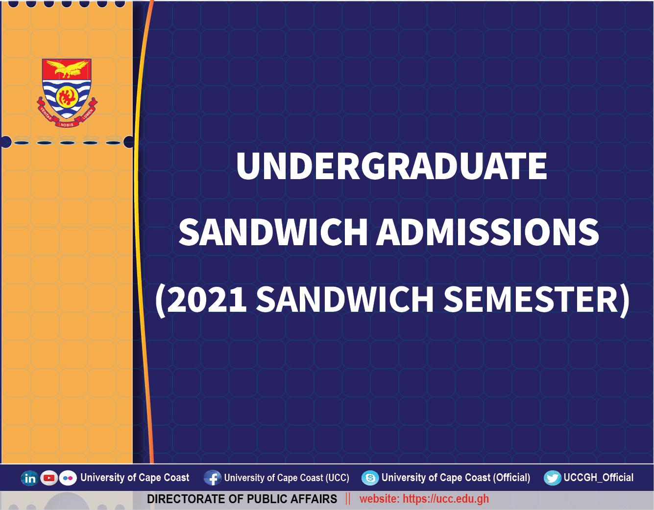 Undergraduate Sandwich Admissions