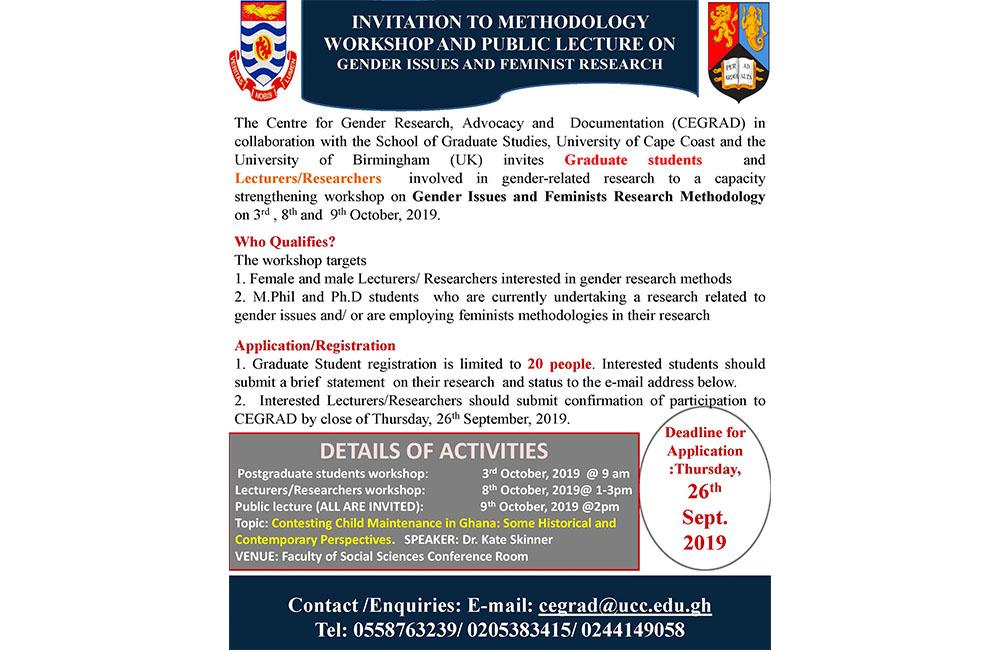 CEGRAD Poster on Gender Methodology Workshop