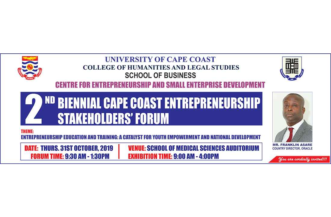 2019 Cape Coast Entrepreneurship Stakeholders' Forum Banner