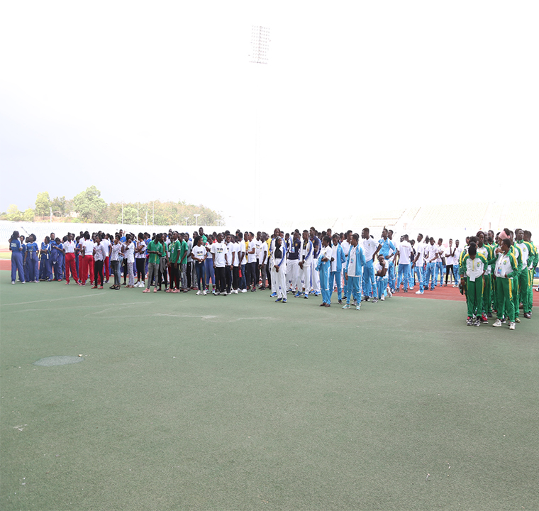 Sportsmen and women from the competing universities at the Opening Ceremony