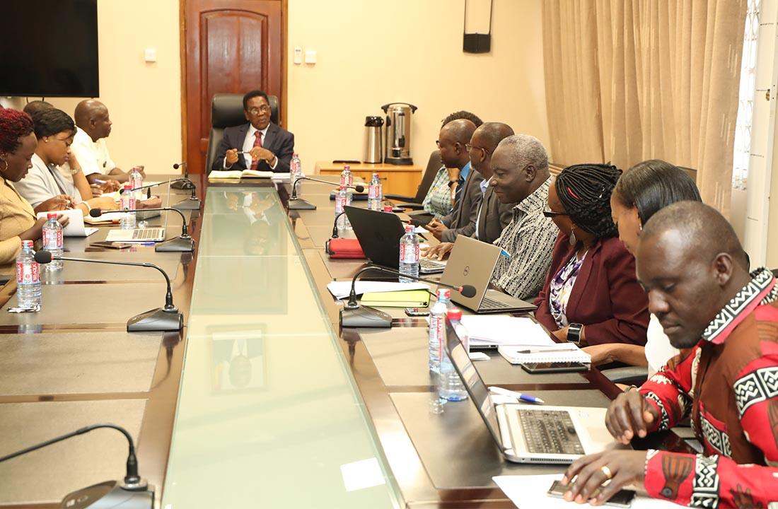 Prof. Kojo Yankah with the delegation from RUFORUM Secretariat