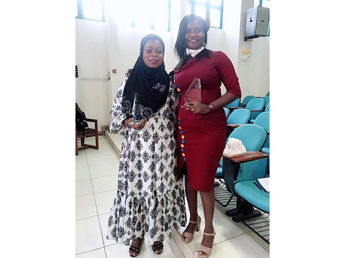 Ms. Sarata Samira Adamu and Ms. Mavis Gyekye-Mensah