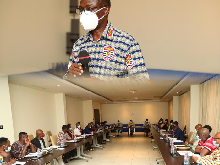 Prof. Johnson Nyarko Boampong addressing the representatives