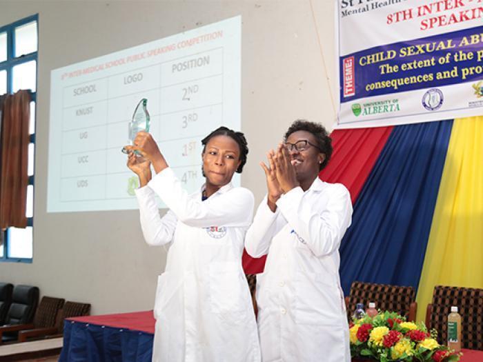 Ms. Regina Ahunu-Armah and Ms Nana Amma Kwansa