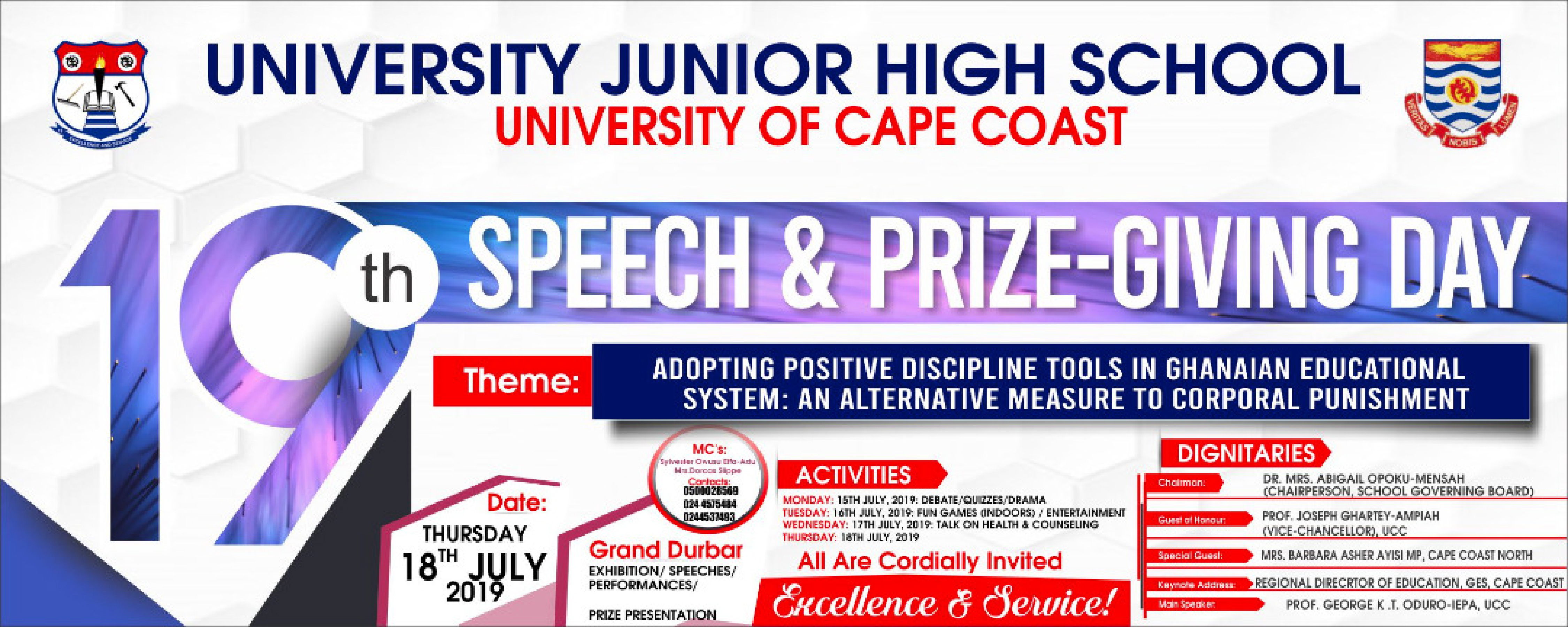 19th Speech and Prize-Giving Day